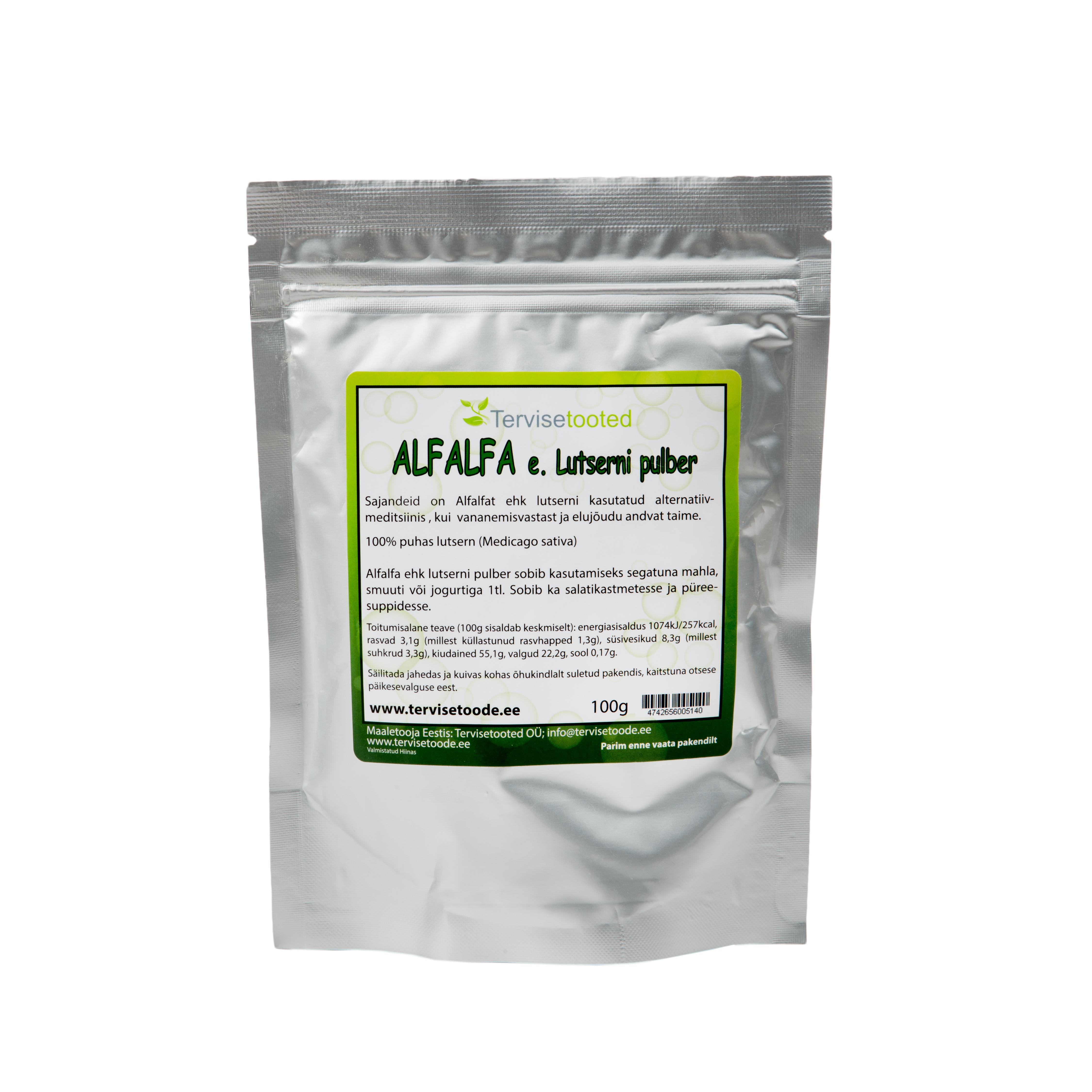 Alfalfa ehk lutserni pulber 100g