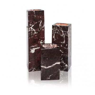 Teeküünla alus, punane marmor