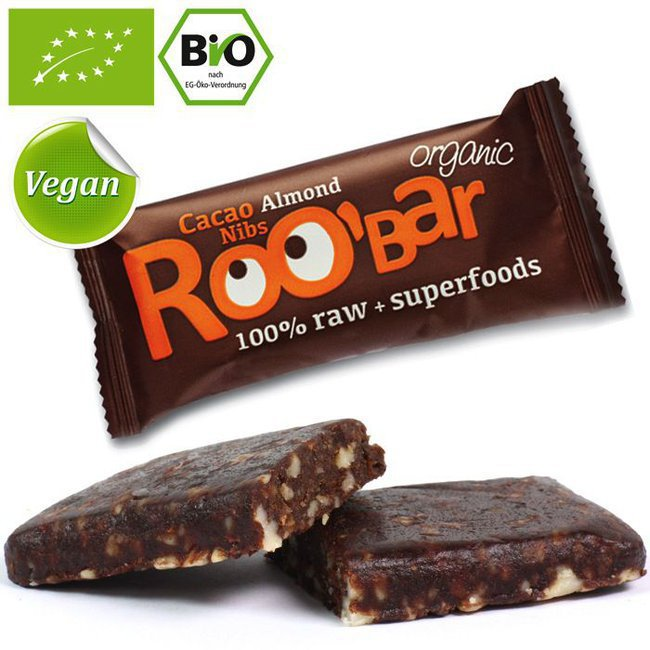 Roobar kakaonibside ja mandliga 30g (2308)