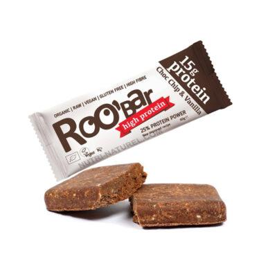 Roobar proteiinibatoon šokolaaditükkide ja vaniljega 60g (2316)