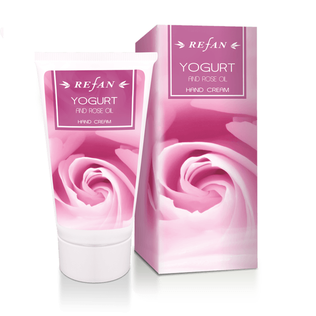 Kätekreem Yogurt and rose oil, 75ml (2135)