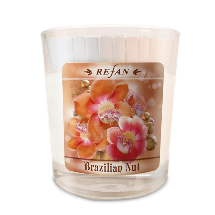 Sojavahast lõhnaküünal Brazilian Nut – klaasis (1977)