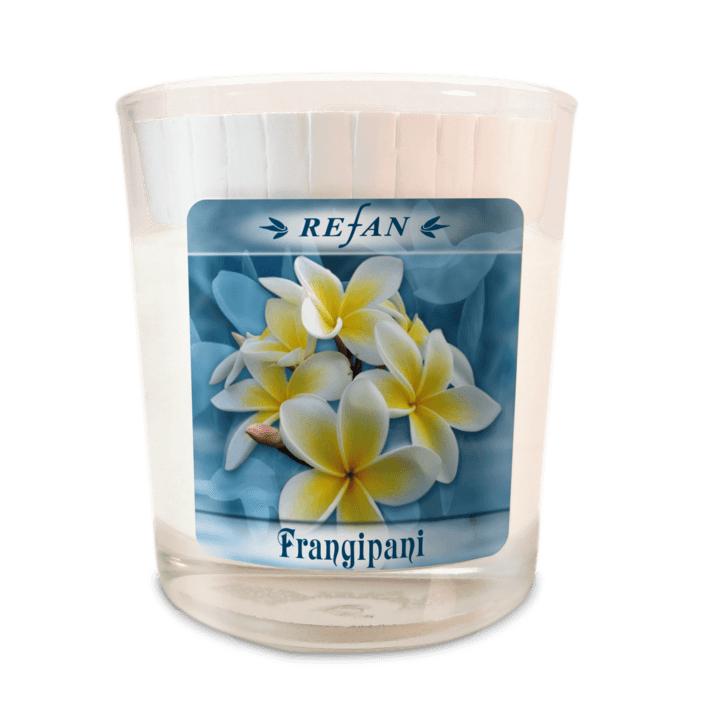 Sojavahast lõhnaküünal Frangipani – klaasis (1976)