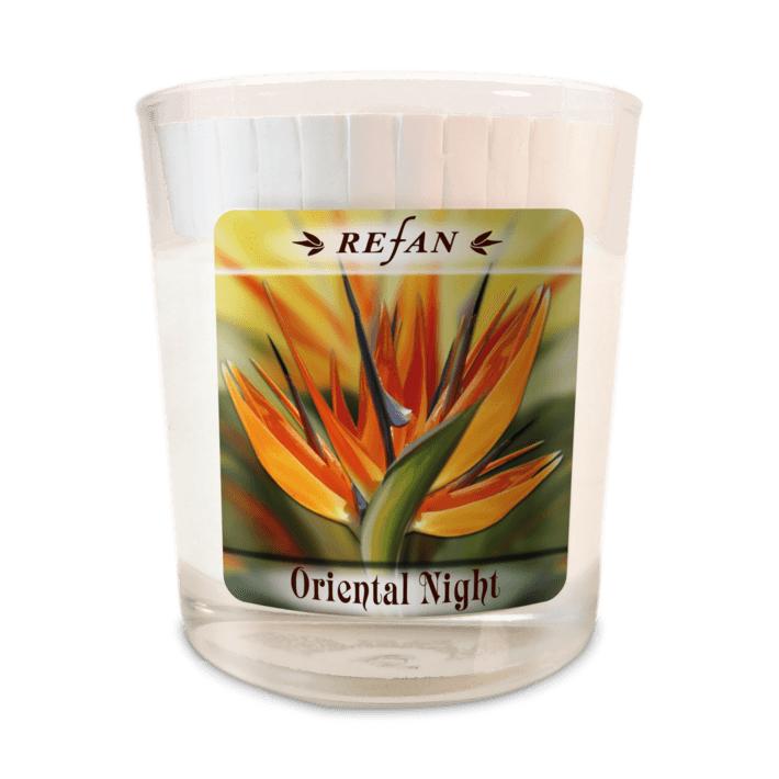 Sojavahast lõhnaküünal Oriental Night – klaasis (1975)