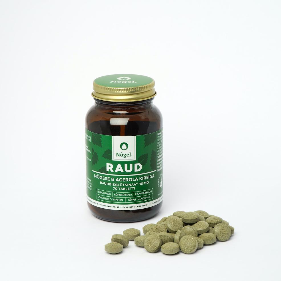 Raud nõgese ja acerola kirsiga, 70 tabletti (2472)