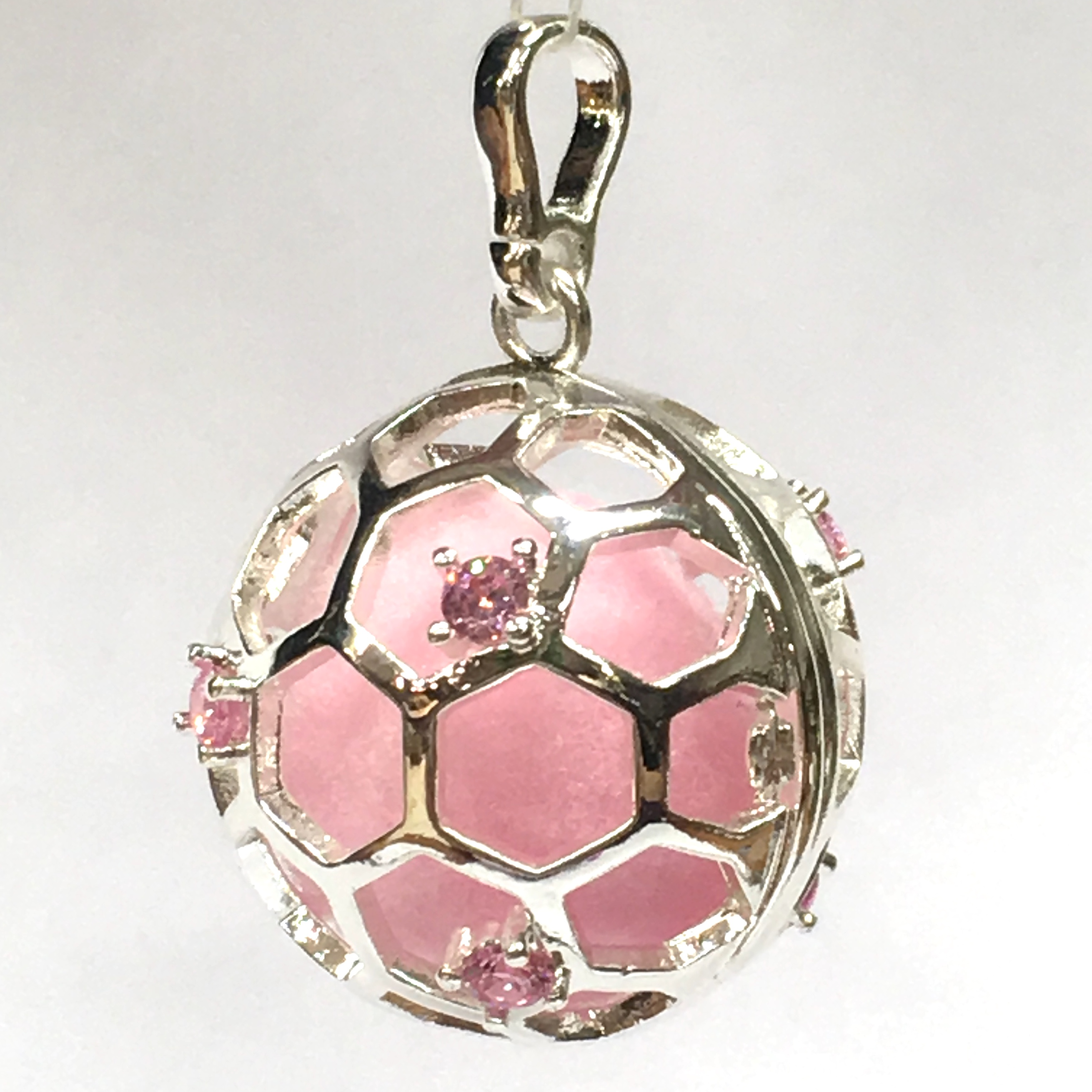 Aroomiteraapia ripats hõbedane roosa tsirkooniga, 20mm (2735)5