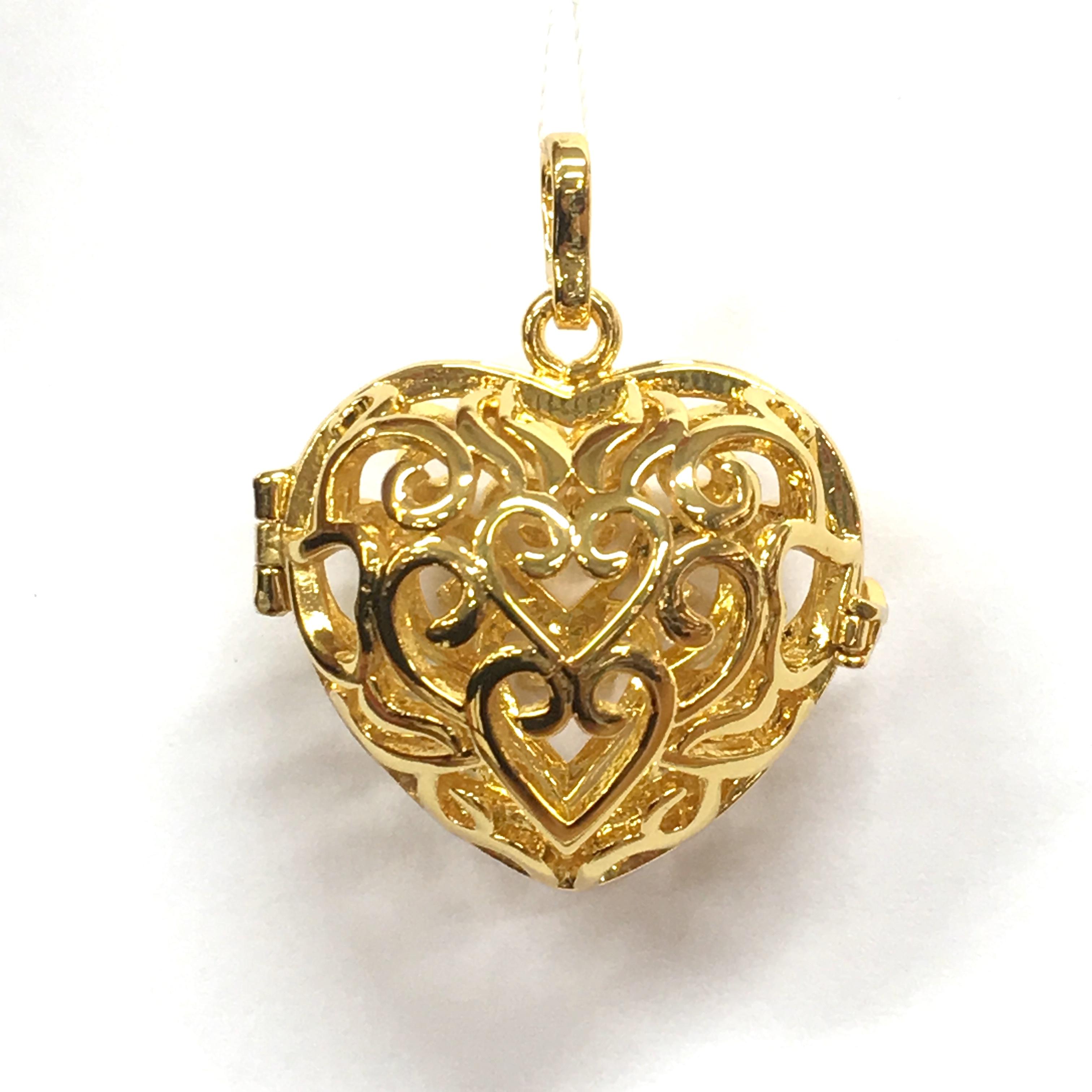 Aroomiteraapia ripats kuldne süda, 18mm (2732)