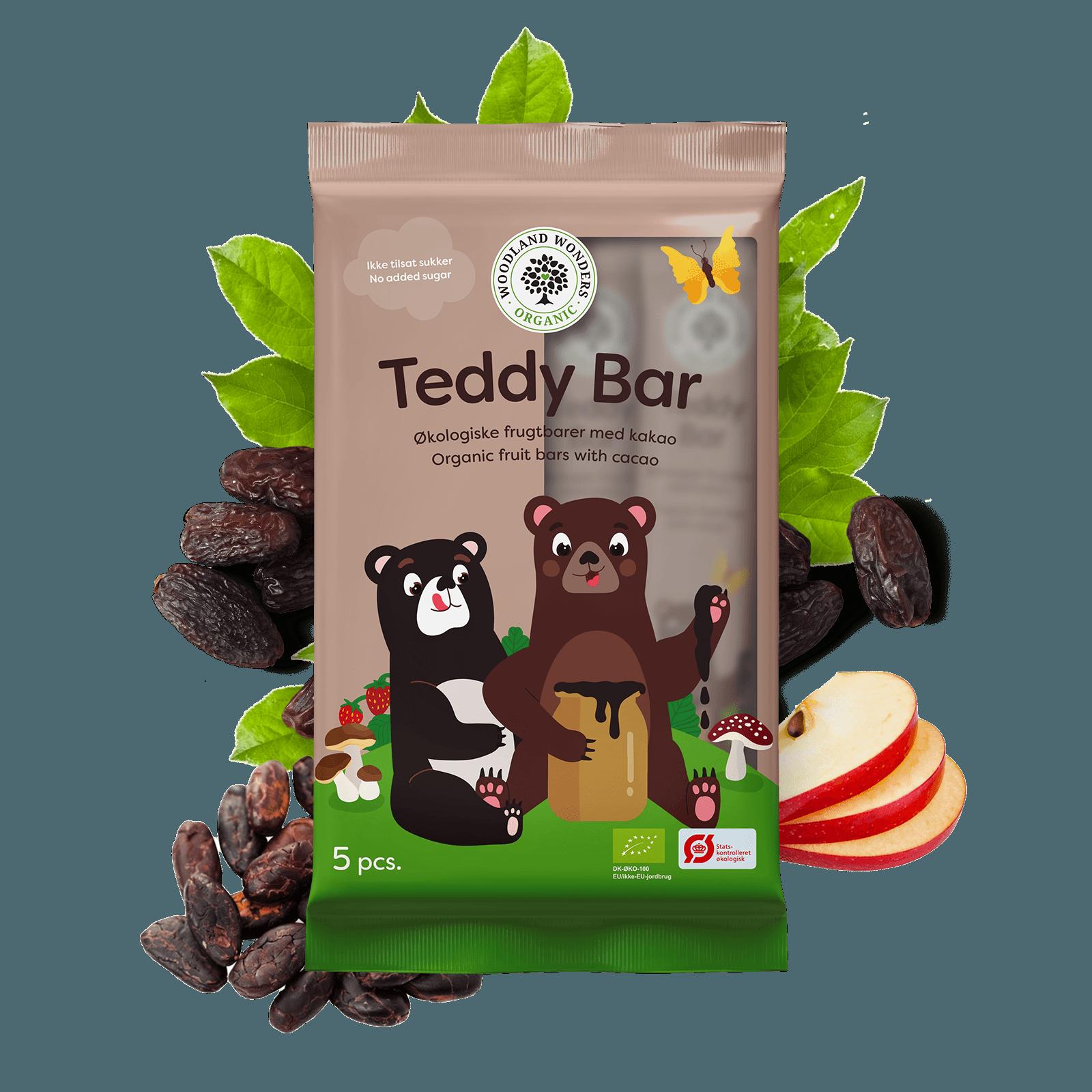 TEDDY BAR – batoonid, 100G (5X20G), Organic (2766)