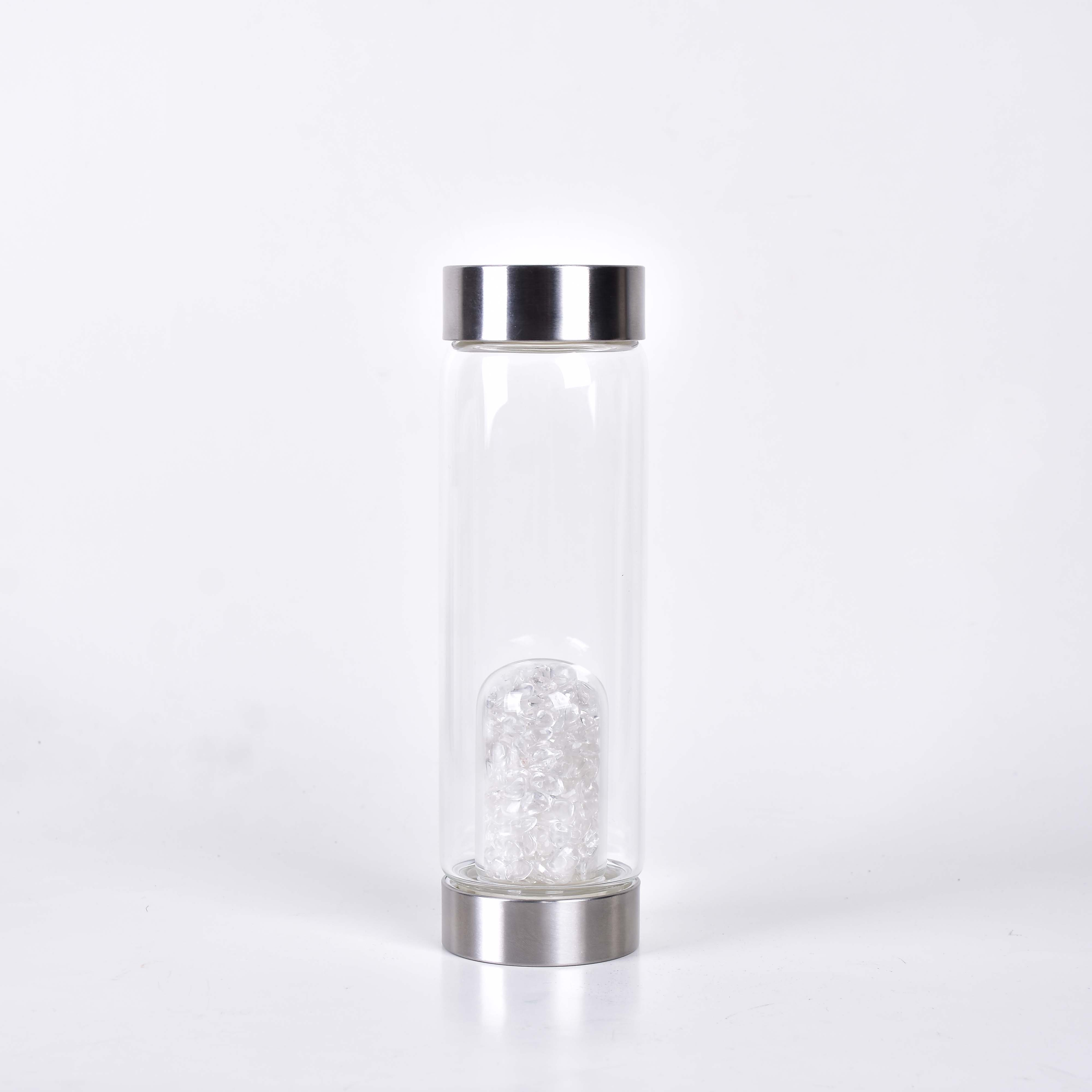 Kristallidega veepudel, Mäekristall, 550ml (2781)
