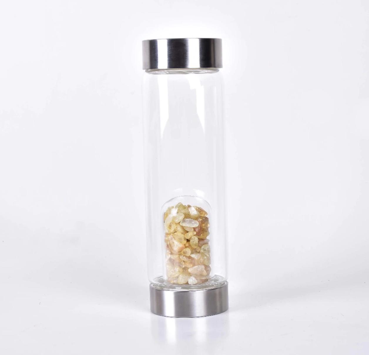 Kristallidega veepudel, Tsitriin, 550ml (2784)
