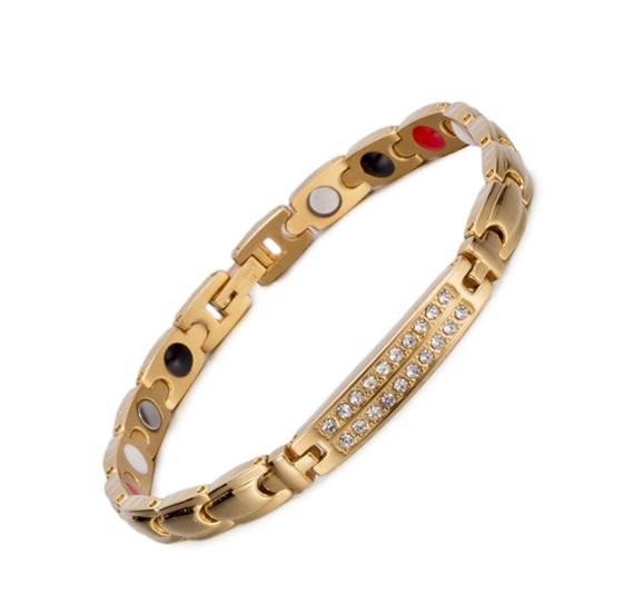 käevõru kuldne kristallidega, magnet-germaanium-infrapuna (naistele) (2842)