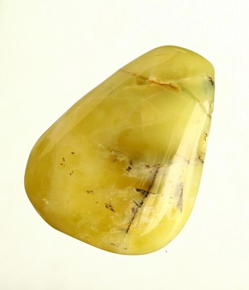 lihvitud kollane opaal, auguga (2710)