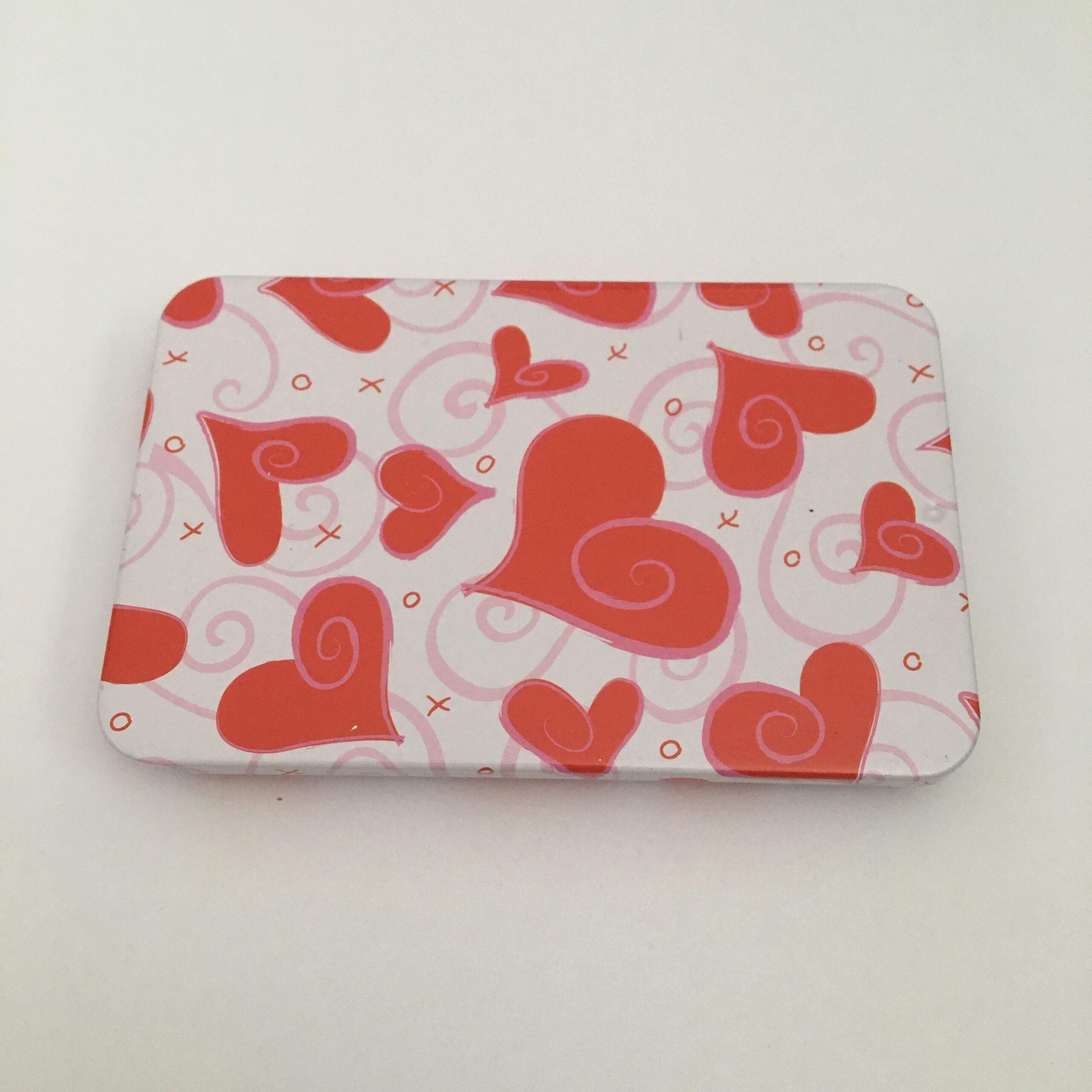 karp südametega,10×6,5cm, metall (2663)